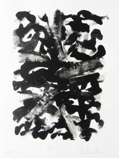 Günther Uecker Grafik, Geheime Briefe 3, 1982