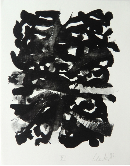 Günther Uecker Grafik, Geheime Briefe 6, 1982