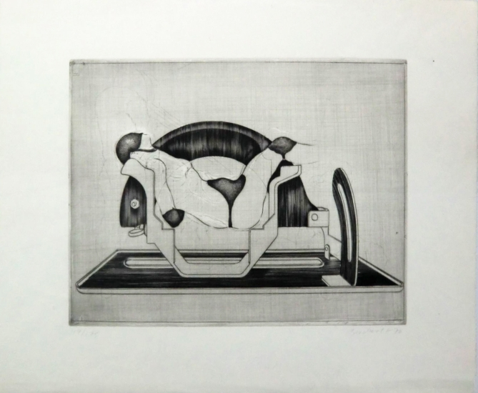Jürgen Brodwolf Grafik, Brotmaschine, 1970
