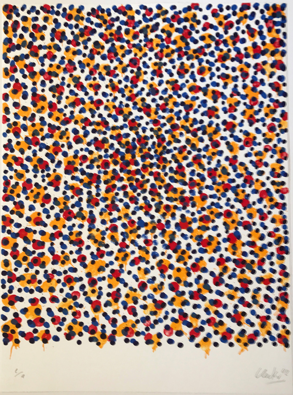 Günther Uecker Grafik, Permutation, Lithografie, 2002