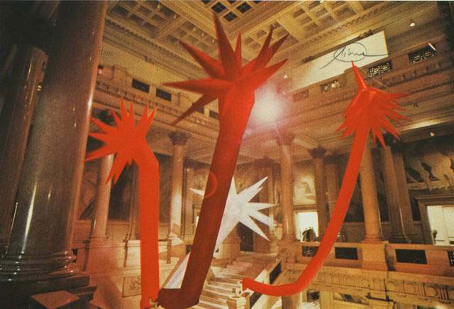 Otto Piene Grafik, Red Rapid Growth