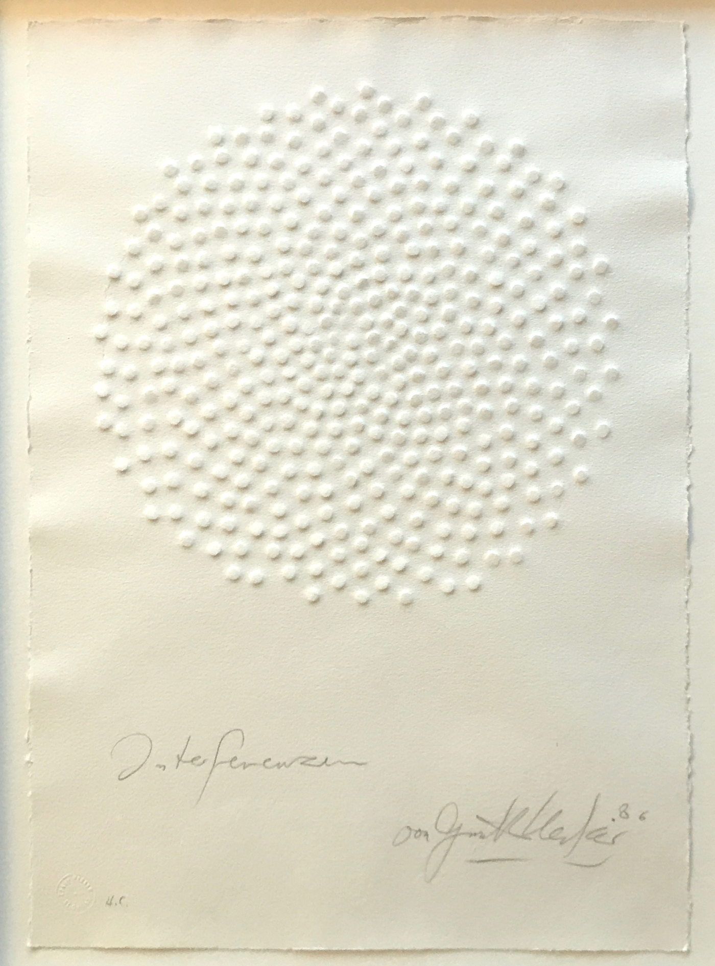 Uecker, Interferenzen, 1986 H.C.